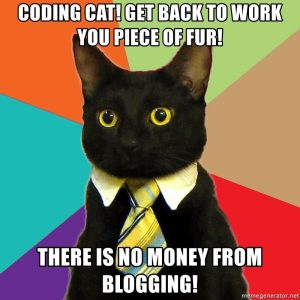 Coding cat get back to work you piece of fur